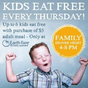 kids eat free earthfare