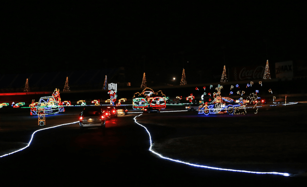 Charlotte motor speedway christmas lights 2017 100 for Charlotte motor speedway christmas lights nc