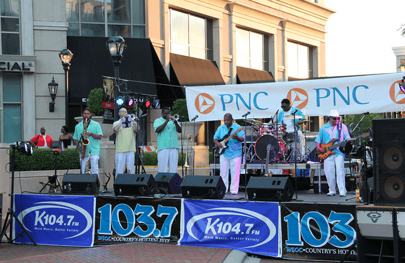 free concerts at piedmont town center charlotte on the cheap. Black Bedroom Furniture Sets. Home Design Ideas