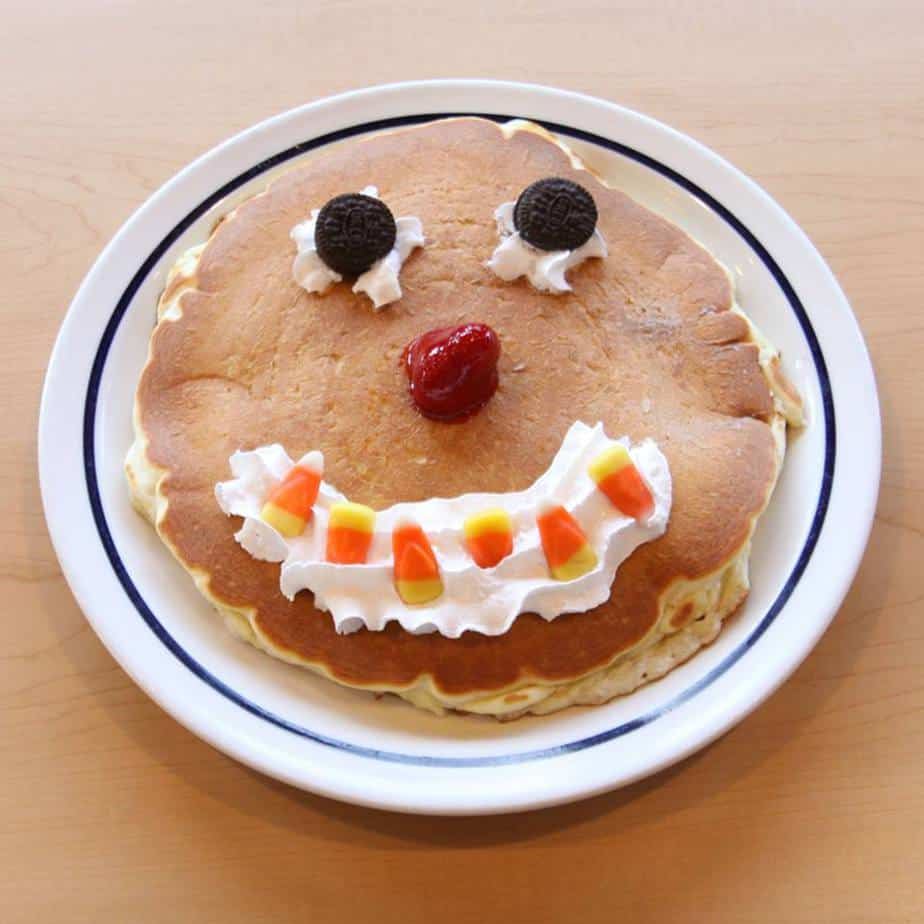 Ihop Free Scary Face Pancake For Kids On Oct 31