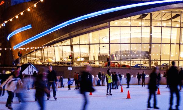 Charlotte NC outdoor ice skating