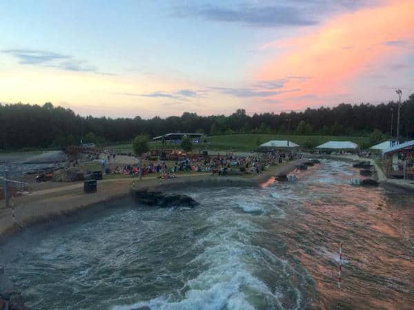 whitewater center sunset