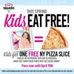 Show Easter Bunny pic, get free pizza for kids at Sbarro
