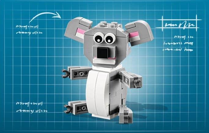 lego mini build koala