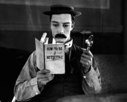 Free at library: silent film Sherlock Jr. with piano accompaniment