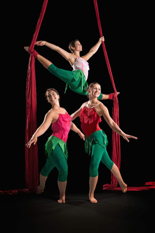 Clara's Trip: A Nutcracker Story, presented by aerial dance company Carolina Calouche & Co.
