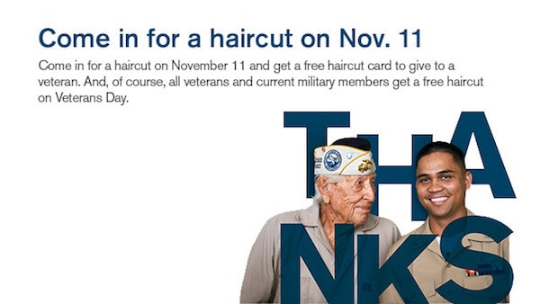 free haircuts for veterans free haircuts for members at great 2289 | great clips veterans 2