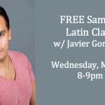 Free sample Latin dance class with Javier Gonzalez