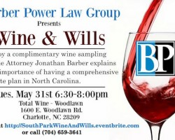Free event to learn about wills. Includes free wine testing