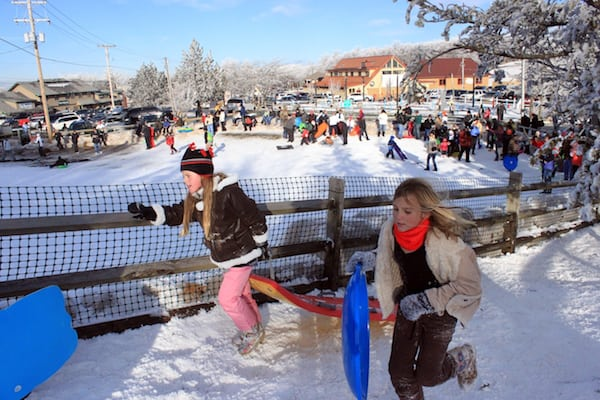 Free Sledding Available This Winter In Beech Mountain Nc