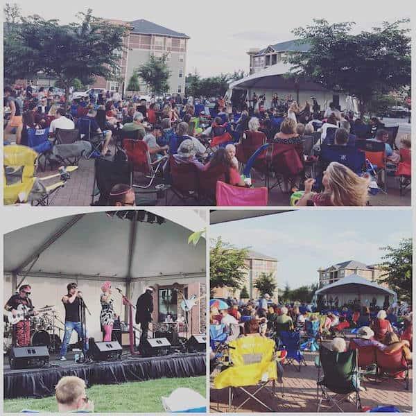 Outdoor summer concerts