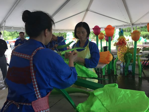 Behind The Scenes Look At Daniel Stowe Botanical Garden 39 S Chinese Lantern Festival Charlotte