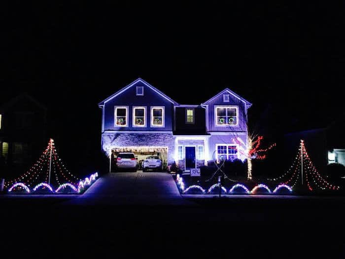 Christian Family Lights in Concord Winding Walk subdivision in Concord, NC. Send them a personal message on the Facebook page to get the address.
