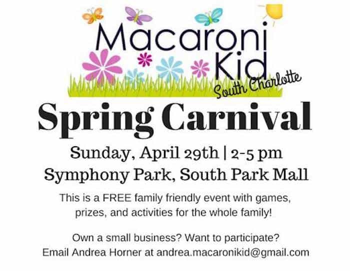 macaroni kid spring carnival at symphony park charlotte on the cheap
