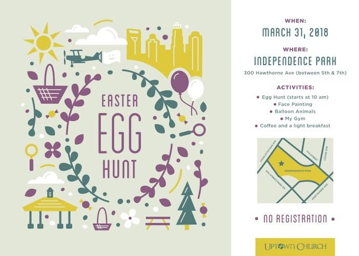 Free easter egg hunt with uptown church giveaways gift cards uptown church invites the community to its easter egg hunt at independence park 300 east hawthorne lane on saturday march 31st 2018 at 10 am negle Images