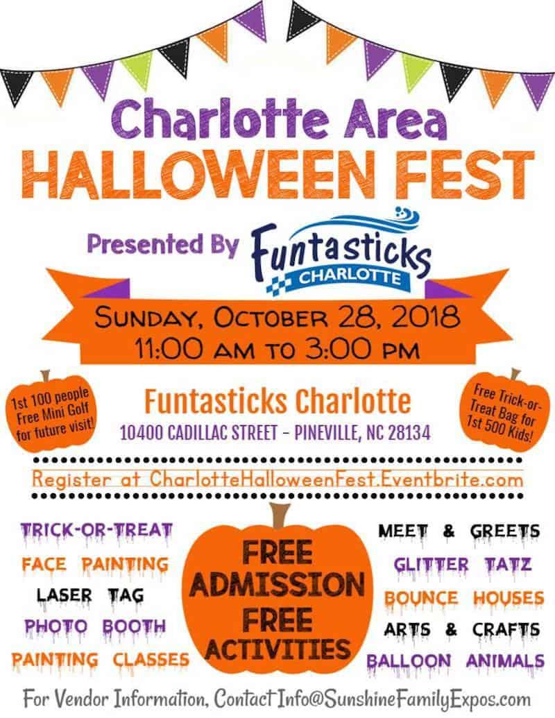 charlotte area halloween fest presentedfuntasticks charlotte