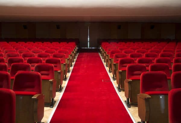 Red Seats In A Theater And Opera