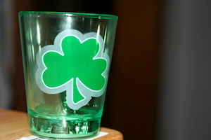 four leaf clover glass