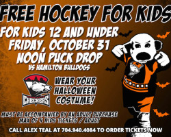 Kids get into Charlotte Checkers game for free on Halloween