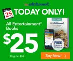 Sale: Entertainment books $25 with free shipping