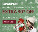 Groupon sale: 30% extra off select deals
