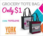 Tote bag customized with your photo for $1